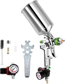 Paint Spray Gun Kit Air Regulator 2.5 mm HVLP Gravity Feed A