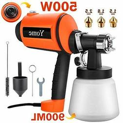 Paint Sprayer 830ml/min, Yome Electric Spray Paint Gun with