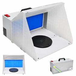 AW Portable Airbrush Paint Spray Booth Kit Pro Paint Set w/