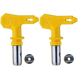 Jewboer 2pcs Reversible Spray Tip for Airless Spray and Pain