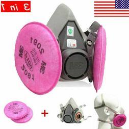 US 3in1 Half face Dust Masks Filter Respirator Spray Paintin