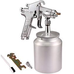 Valianto W77-S HVLP Siphon Feed Spray Gun Silver Nozzle Size